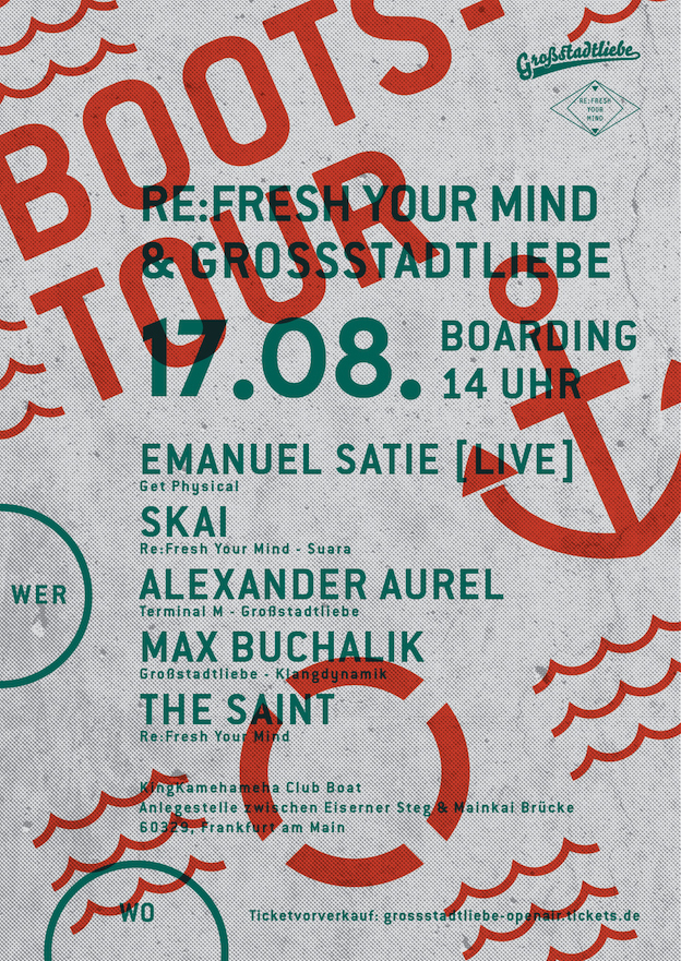 Plakat ReFresh Your Mind meets Gro·stadtliebe Open Air -13- AT SEA
